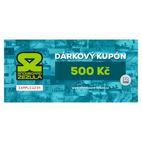 Go to the product Gift cards Snowboard Zezula 500 Kč