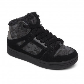 Go to the product Winter shoes DC Pure High-Top Wnt black camouflage 2020