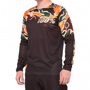 Go to the product Bike jersey 100% R-Core Jersey merlot/camo 2020