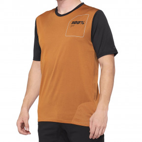 Go to the product Bike jersey 100% Ridecamp Jersey terracotta/black 2020