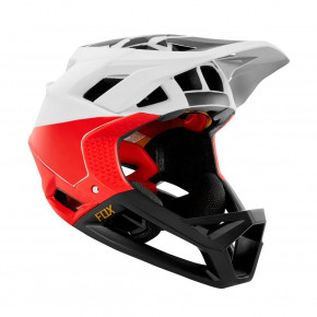 Go to the product Helmet Fox Proframe Pistol white/black/red 2019
