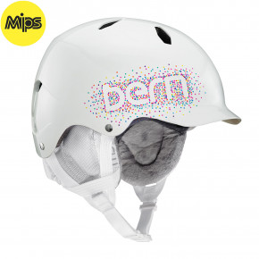Go to the product Helmet Bern Bandito Mips gloss white confetti logo 2019/2020
