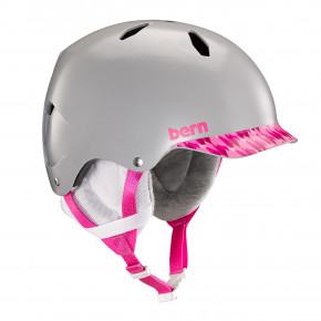 Go to the product Helmet Bern Bandito satin grey/pink brimstyle 2020/2021