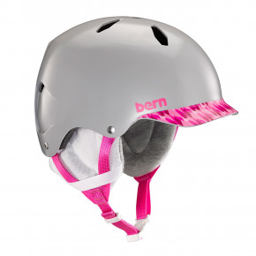 Go to the product Helmet Bern Bandito satin grey/pink brimstyle 2018/2019