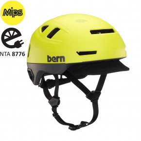Go to the product Helmet Bern Hudson Mips matte hyper green 2020