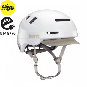 Go to the product Helmet Bern Hudson Mips satin white 2020