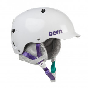 Go to the product Helmet Bern Lenox Crank-Fit satin white 2018/2019