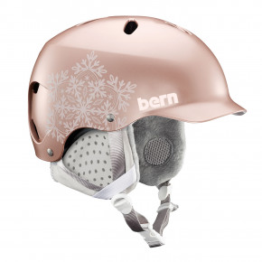 Go to the product Helmet Bern Lenox satin rose gold snowflake 2018/2019