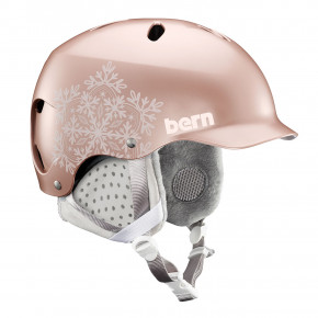 Go to the product Helmet Bern Lenox satin rose gold snowflake 2019/2020