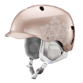 Go to the product Helmet Bern Lenox satin rose gold snowflake 2017/2018