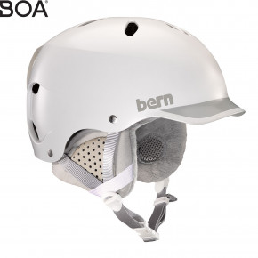Go to the product Helmet Bern Lenox satin white/grey brim 2019/2020