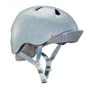 Go to the product Helmet Bern Nina satin seaglass polka dot 2019