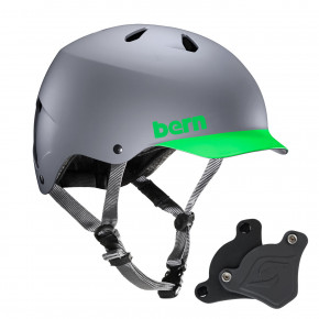 Go to the product Helmet Bern Watts H2O WEP matte grey neon green brim 2018