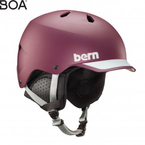 Go to the product Helmet Bern Watts matte burgundy 2019/2020
