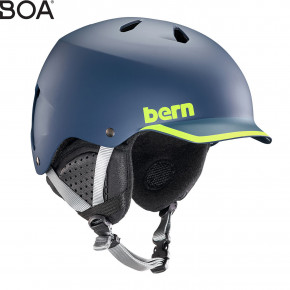 Go to the product Helmet Bern Watts satin navy/hyper green trim 2019/2020
