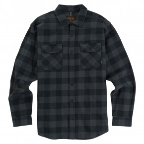 Go to the product Shirt Burton Brighton Flannel true black heather buffalo 2019
