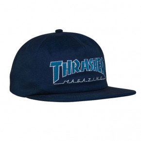 Go to the product Cap Thrasher Outlined Snapback navy/grey 2019