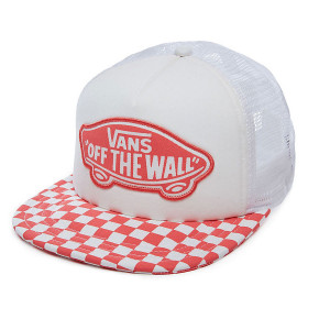 Go to the product Cap Vans Beach Girl Trucker spiced coral checkerboard 2018