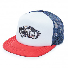Přejít na produkt Kšiltovka Vans Classic Patch Trucker dress blues/white/chili pepper 2018