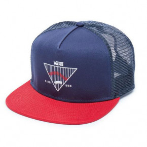Přejít na produkt Kšiltovka Vans Goins Trucker dress blues/chili pepper 2018