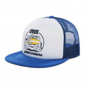 Go to the product Cap Vans Wheres The Beach Trucker Boys white/victoria blue 2020