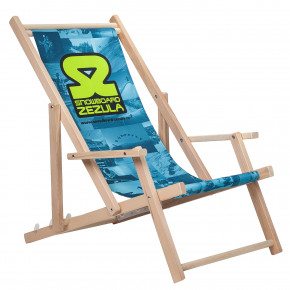 Go to the product Deck chair Snowboard Zezula Deckchair photoprint blue