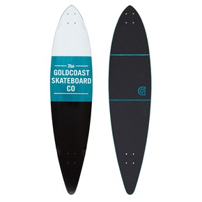 Go to the product Longboard deck Goldcoast Standard Pintail black & white 2016