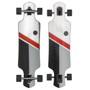Go to the product Longboard Globe Geminon 35 silver/red 2017