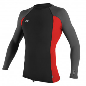 Go to the product Lycra O'Neill Premium Skins L/s Rash Guard black/red/graphite 2018