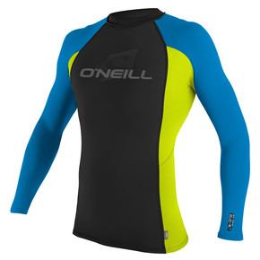 Go to the product Lycra O'Neill Skins L/s Crew black/lime/brite blue 2017