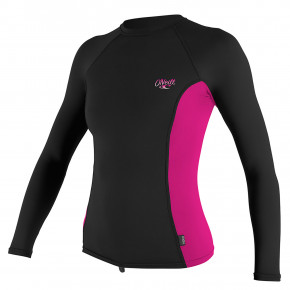Go to the product Lycra O'Neill Wms Premium Skins L/S Rash black/berry/black 2018