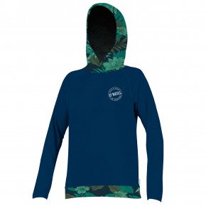 Go to the product Lycra O'Neill Wms Print L/s Hoodie abyss/abyss/faro 2019