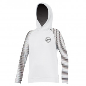 Go to the product Lycra O'Neill Wms Print L/S Hoodie white/higway stripe 2018