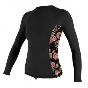 Go to the product Lycra O'Neill Wms Side Print L/s Rash Guard black/flo 2020