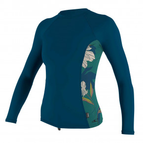 Přejít na produkt Lycra O'Neill Wms Side Print L/s Rash Guard french navy/bridget 2020