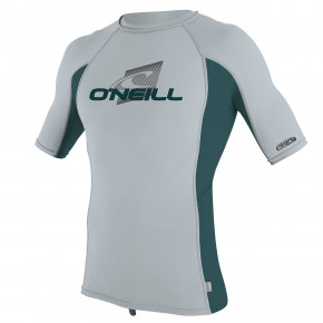 Go to the product Lycra O'Neill Youth Premium Skins S/s Rash cool grey/teal/cool grey 2019