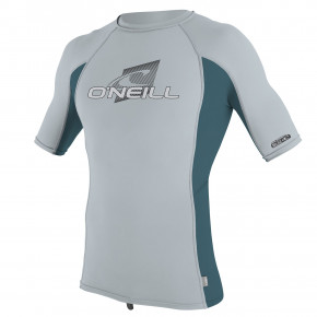 Prejsť na produkt Lycra O'Neill Youth Premium Skins S/s Rash cool grey/teal/cool grey 2019