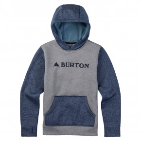 Go to the product Hoodie Burton Boys Oak Pullover monument heather/winter sky hthr 2018