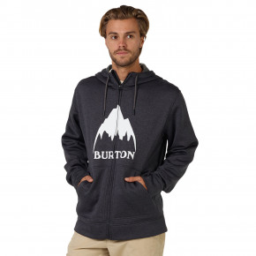 Go to the product Hoodie Burton Oak Full-Zip true black heather 2018
