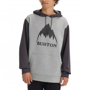 Go to the product Hoodie Burton Oak Pullover monument heather/true black hthr 2018