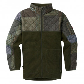 Přejít na produkt Burton Pierce Fleece patchwork/forest night heather 2018/2019