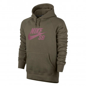 Go to the product Hoodie Nike SB Icon Pullover Hoodie medium olive/elemental pink 2018