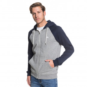 Go to the product Hoodie Quiksilver Everyday Zip light grey heather/navy blazer 2019