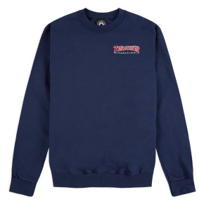 Przejść do produktu Bluza Thrasher Embroidered Outlined Crewneck navy blue 2019