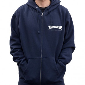 Go to the product Hoodie Thrasher Logo Zip Hood navy blue 2020