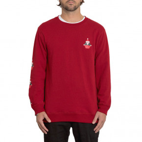 Go to the product Hoodie Volcom Santastone Crew Fleece deep red 2019