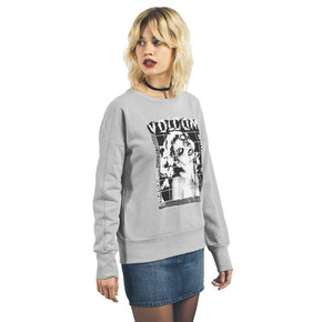 Go to the product Hoodie Volcom Walk On By Crew Neck heather grey 2017