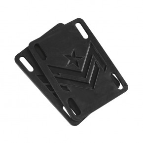 "Go to the product Mini Logo Riser Rubber 4 0.1"" black"