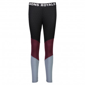 Go to the product Pants Mons Royale Christy Legging Panel birdseye/burgundy/lead 2017/2018