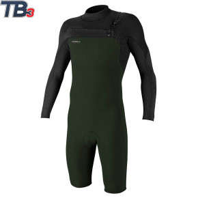 Go to the product Wetsuit O'Neill Hyperfreak CZ 2mm L/S Spring dark olive/black 2020